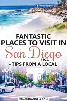Wondering what to do in San Diego California? A local recommends great places to visit including popular attractions like the San Diego Zoo or the Gaslamp District as well as beaches restaurants bars and more! hotel restaurant travel tips San Diego Usa, Visit San Diego, North Park San Diego, San Diego Vacation, San Diego Travel, San Diego Trip, Cities, California Travel, California Living