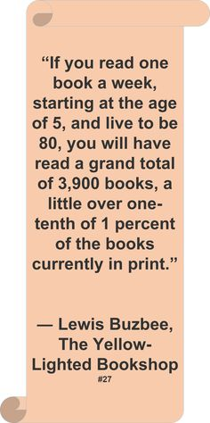 Must read more! - this is actually a kind of depressing statistic.... I mean, think of all those unread books!
