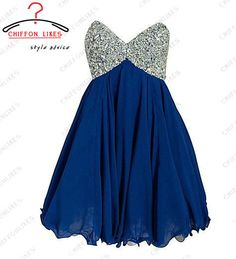 Short prom dress Dark blue short dress Homecoming by chiffonlikes