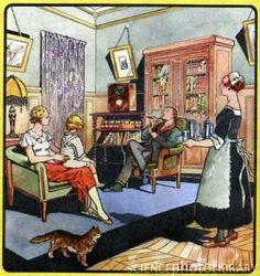 Family life, 1930s artwork