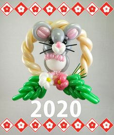 Ballon Animals, Chinese New Year, Balloon Decorations, Balloons, Sculptures, Flowers, Ideas, Globe Decor, Tutorials