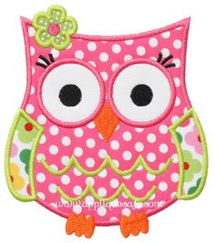 "Owl Applique Design  Sizes include: 4x4 hoop (3.47"" x 3.89"") 5x7 hoop (4.90"" x 5.53"") 6x10 hoop (5.89"" x 6.67"") Price:	Was $4.00 Sale! $2.00"