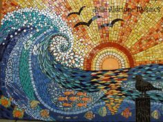 Sunset Wave, by Julie Aldridge -- one of the most beautiful mosaics I've ever seen!