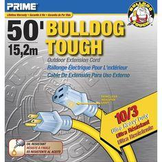 Prime 50' 10/3 Sjtow Yellow Bulldog Tough Extension Cord (Power cables)