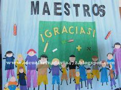 telon escolar del dia del maestro - Buscar con Google Google, Teachers' Day, School, Manualidades, June, Jars, Argentina