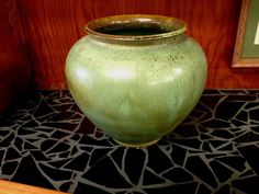 Vintage matt #green south #carolina pottery cole arts and #crafts vase jardiniere,  View more on the LINK: 	http://www.zeppy.io/product/gb/2/222262014580/