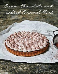 Letizia in Cucina: Cream Chocolate salted Caramel Tart