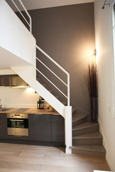 http://leblogdemelvina.wordpress.com/2012/06/22/duplex-parisien/ Small flat in Paris - stairs