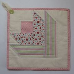 Stampin' Up!  Twitterpated Fabric  Cheryl Garratt  Quilted Potholder Tutorial