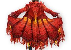 Recycled Sweater Coat -- The Phoenix -- Epic Fantasy Collection Fantastically amazing