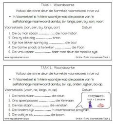 Image result for saamgestelde sinne Afrikaans, Teacher Resources, Worksheets, Homeschool, Teaching, Education, Image, Literacy Centers, Onderwijs