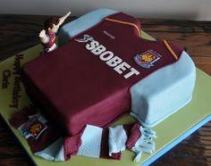 West Ham United Shirt Cake