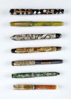 Lot Of 7: Assorted Fountain Pens.