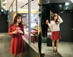 All Korean Fashion items up to 70%OFF! #gatheredwaistdress #checkeddress #dress #minidress