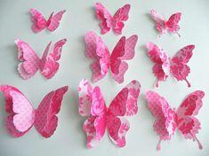 Decorazioni di carta - Farfalle rosa di carta.
