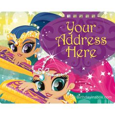 Check out Glisten and Sparkle Personalized Address Labels (Sheet of 15) | Glisten and Sparkle tableware and décor for your next party from Birthday in a Box from Birthday In A Box