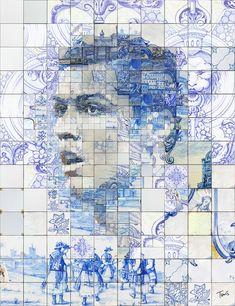 Cristiano Ronaldo: O leão da Madeira (The lion of Madeira island)https://www.behance.net/gallery/21659435/Cristiano-Ronaldo-O-orgulho-de-Portugal  #azulejos #mosaic #photomosaic #illustration #Realmadrid #ronaldo #cr7 #graphicdesign #visualdesign #tsevis