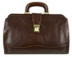 GENUINE LEATHER SMALL DOCTOR BAG - DAVID COPPERFIELD