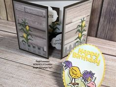 Boy Cards, Kids Cards, Fancy Fold Cards, Folded Cards, Chicken Art, Funny Chicken, Stamping Up Cards, Animal Cards, Card Tutorials