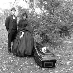 Victorian funeral. These two look like they could live in my street.