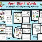 http://www.teacherspayteachers.com/Product/April-Sight-Word-Bundle-6-Emergent-Readers-with-Writing-Response-Sheets-1057000 This is not your typical April worksheet pack.  Use these materials to bundle learning more than 30 CCSS literacy in your classroom! Your students ...
