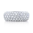 Tiffany's Etoile Five-row Band Ring. Modern and streamlined, yet perfectly timeless. Five-row band ring with round brilliant diamonds pavé-set in platinum. 3.30 carat weight.