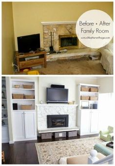"Jamie from So Much Better With Age reflects on all the work she's done in her home, including this major Living Room Makeover. If you like ""before"" and ""afters"" then her post is for you! by jami"