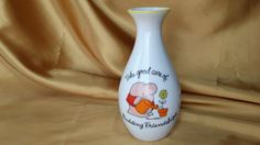 Vintage 1982 ZIGGY Take Good Care of Budding Friendships Porcelain Bud Vase - Made in Japan *eb