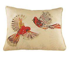 Federa copri cuscino arredo misto cotone Birds naturale - 43x43 cm