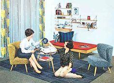 m bel 50er jahre pinteres. Black Bedroom Furniture Sets. Home Design Ideas
