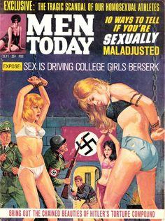 Men's Pulp Adventure Magazines  MEN TODAY, Sept. 1964. Cover byBruce Minney.