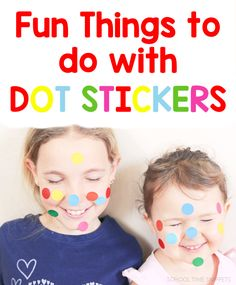 So many fun activities to learn and play with color dot stickers! Motor Activities, Activities For Kids, Love Stickers, Play To Learn, Child Love, Fine Motor Skills, Things To Do, About Me Blog, Dots