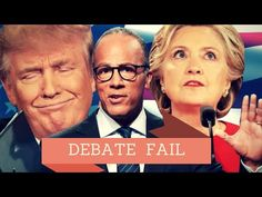 Hillary and Lester Holt rigged the debate with hand signals and questions - YouTube