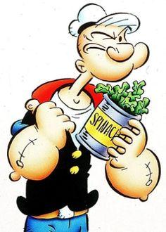 Popeye. El consumo de espinacas en los EE.UU. aumentó un 33% después de que la tira cómica de Popeye se convirtiera en un éxito en 1931.