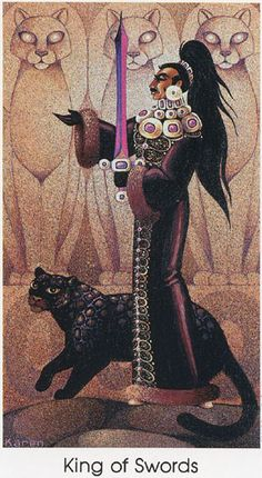 Tarot of the Cat People - King of Swords: I have this deck.