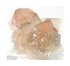 Tangerine Quartz Crystal Cluster with Gypsum by FenderMinerals