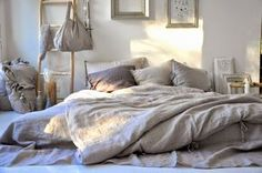 bedroom inspiration   grey   mattress on the floor