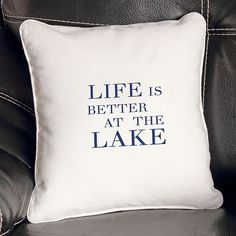 Cathy's Concepts Lake House Throw Pillow