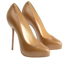 CHRISTIAN LOUBOUTIN 'Big Stack' Leather Court Shoes