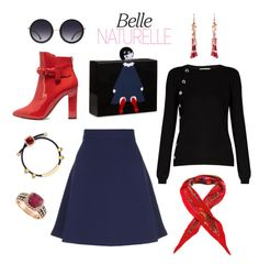 """""""Belle Naturelle"""" by aasrmiruna ❤ liked on Polyvore featuring Lulu Guinness, Altuzarra, Sandro, Valentino, Alexander McQueen, Effy Jewelry, Nak Armstrong, Hermès and Alice + Olivia"""