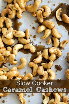 Slow Cooker Caramel Cashews