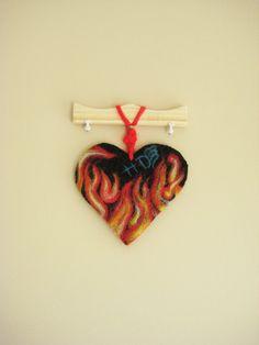 Wall Art motor  heart Heart  home decor office by BoryanacrochetBG