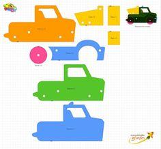 3D Foam truck pattern - Molde de camion en goma eva