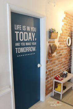 ㅎㄹ Art Studio Decor, Door Gate Design, Diy Home Decor, Room Decor, Interior Styling, Interior Design, Red Brick Walls, Industrial House, Diy Home Improvement