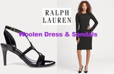 Stretch wool dress and sandals from Ralph Lauren Woolen Dresses, Wool Dress, Pilates For Men, Dress Sandals, Celebrity News, Stretches, Ralph Lauren, Lady, Celebrities