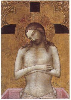 "rossodimarte:  Workshop of Lorenzo Monaco ""Vir dolorum"", c.1405 Bergamo, Accademia Carrara"