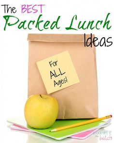 Tired of packing the same old lunches? Here's a list of really yummy, but simple, lunch ideas to change things up a little!