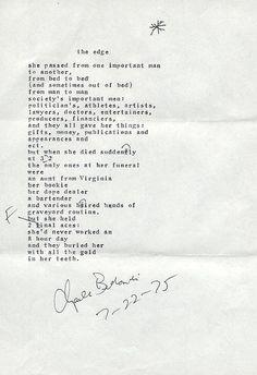 "Charles Bukowski poem, via Flickr. ""The Edge"""