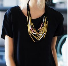 This necklace is so different! CUTE!
