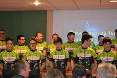 Lundi 16 février 2015 - Présentation des coureurs de l'Avenir Cycliste Touraine dans les locaux d'Harmonie mutuelle à Tours.
